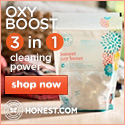 Honest Oxy Boost brings you 3 in 1 cleaning power! Shop Now